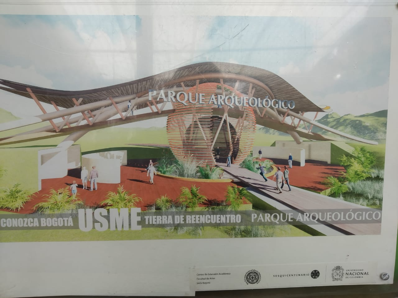 Diseño Parque Arqueológico propuesto por la Mesa de Patrimonio Usmeka