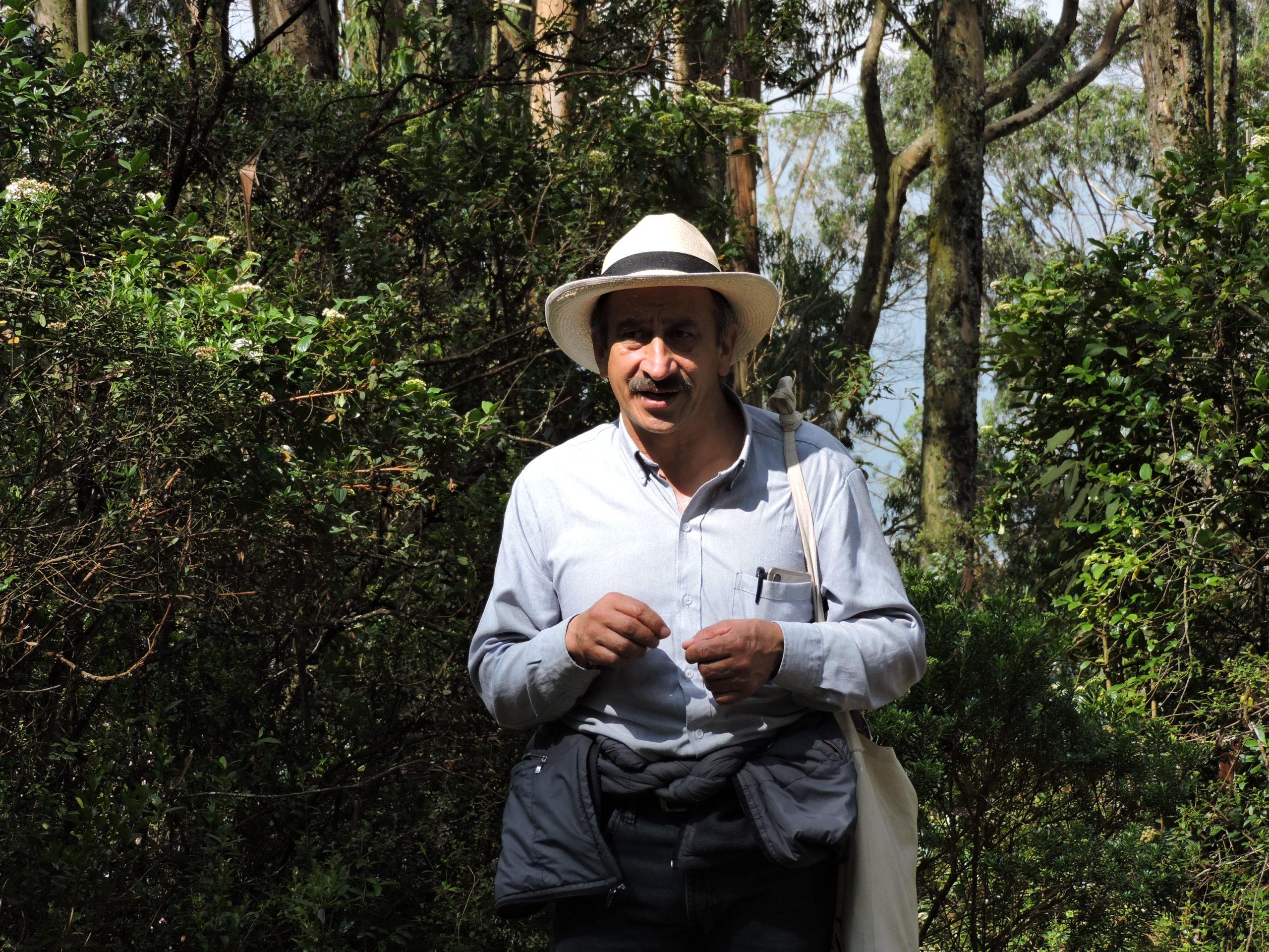 Jaime Beltrán, defensor del patrimonio y territorio Usmeka. Foto: El de la Ruana.