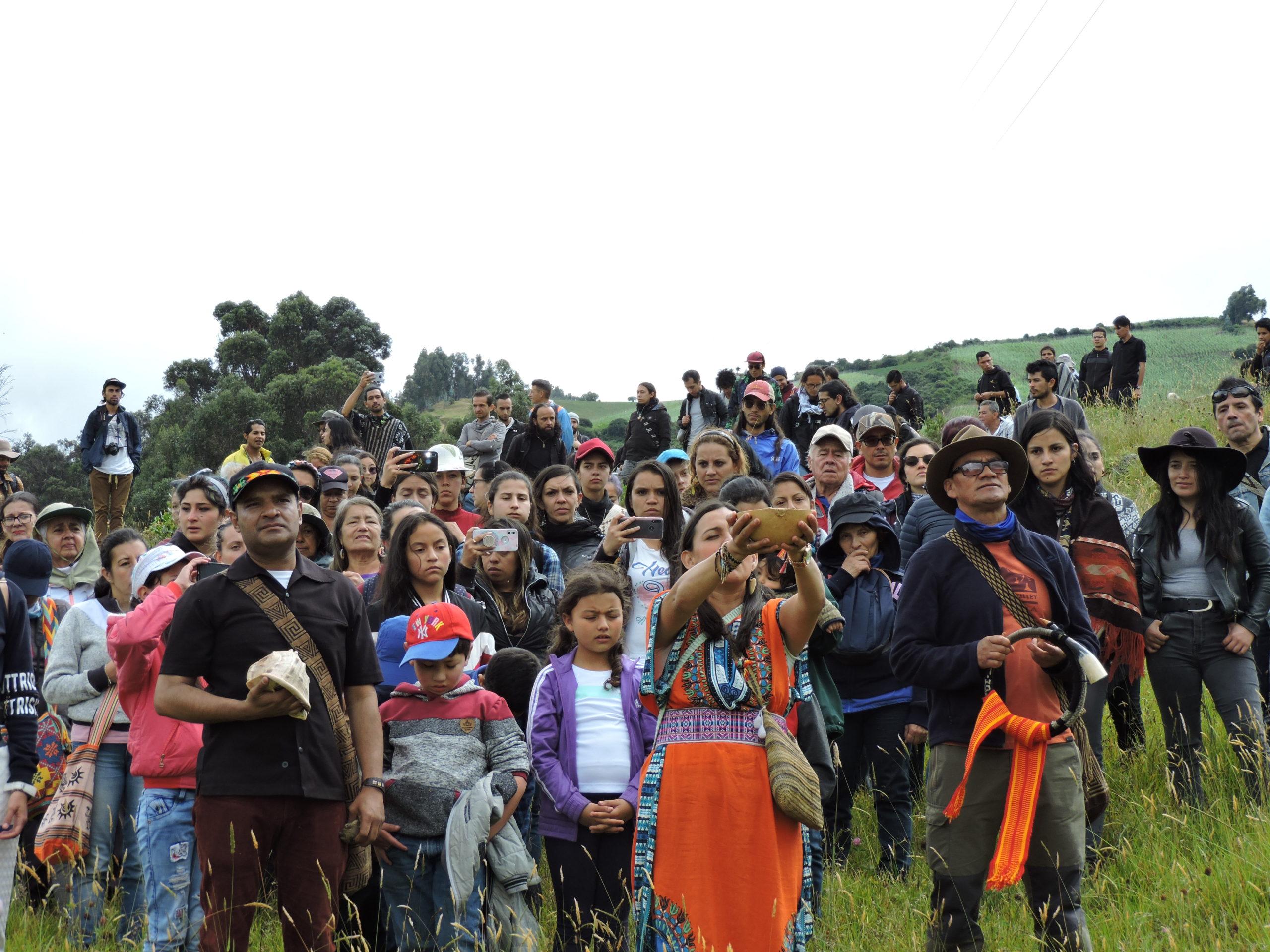 Ritual territorio ancestral del Hallazgo, enero- 2020. Foto: El de la Ruana.