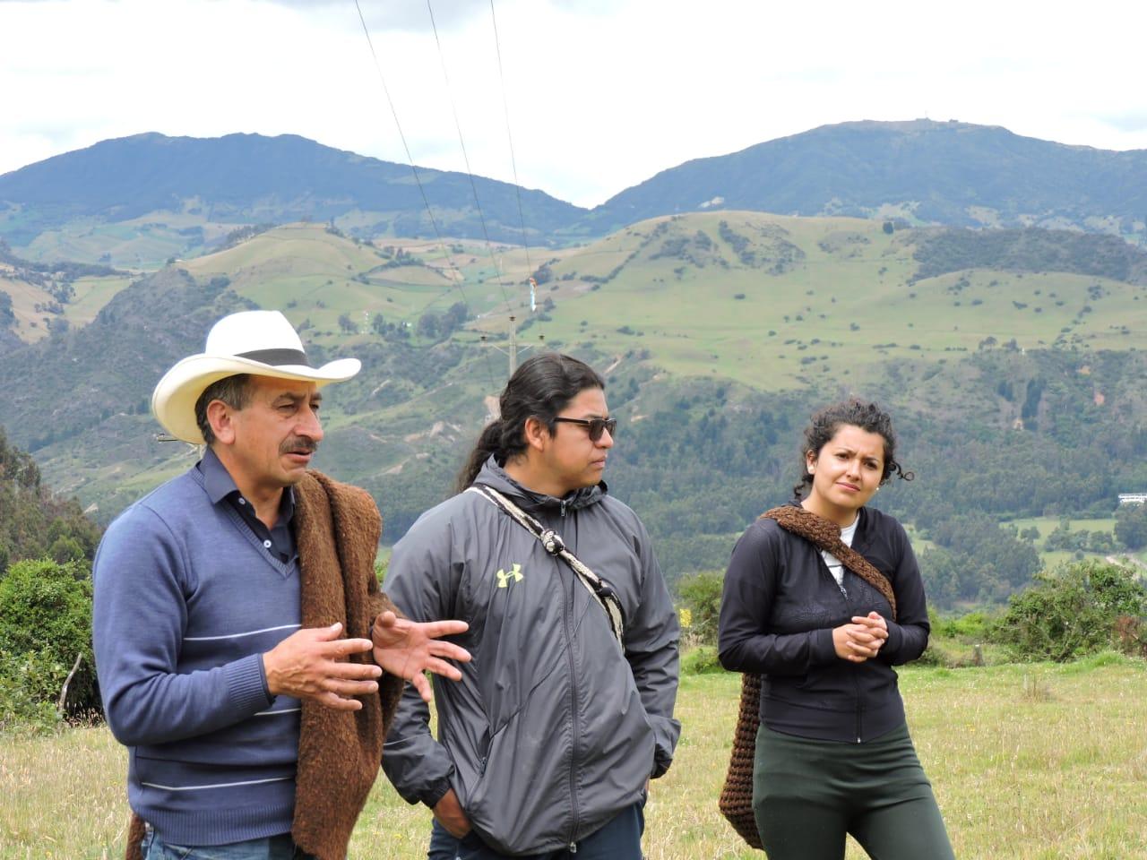 Jaime Beltrán, Harol Villay y Yerli Barreara, líderes de la Mesa de Patrimonio. Foto: El de la Ruana.