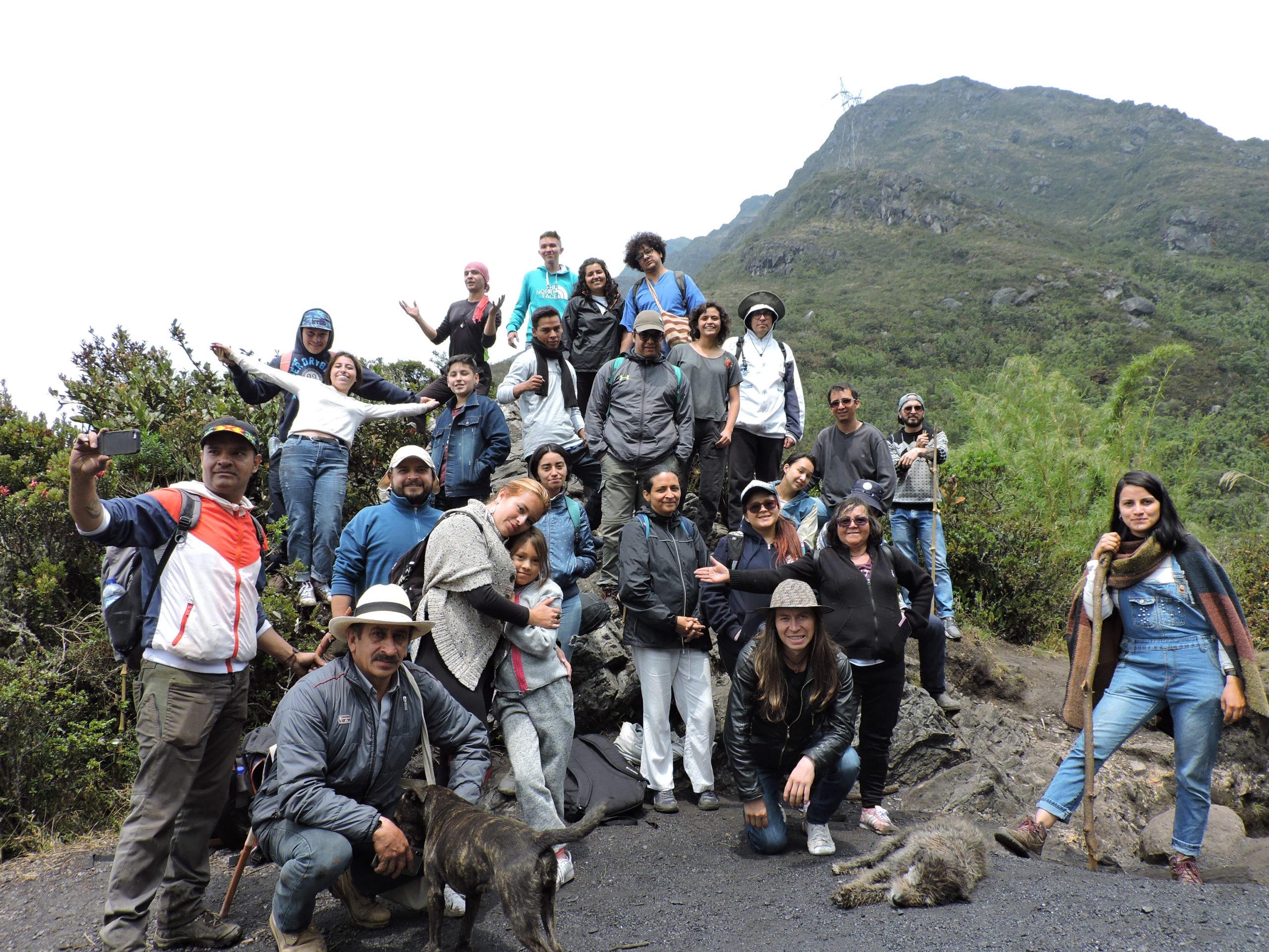 Recorrido, cuenca quebrada Yomasa, febr. 2020. Foto: El de La Ruana